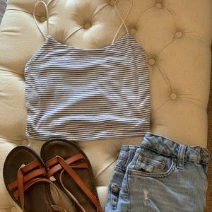 PacSun tank top, summer tank beachwear, date night